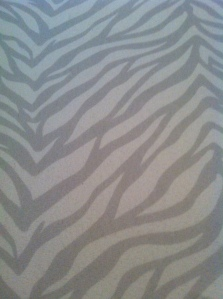 Cute Grey Zebra Print Fabric!